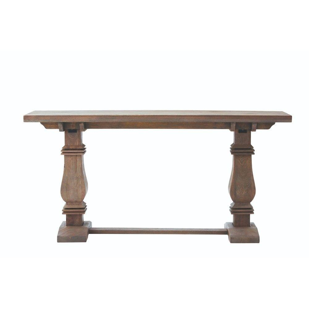 Home decorators collection aldridge antique walnut console for Sofa table home depot