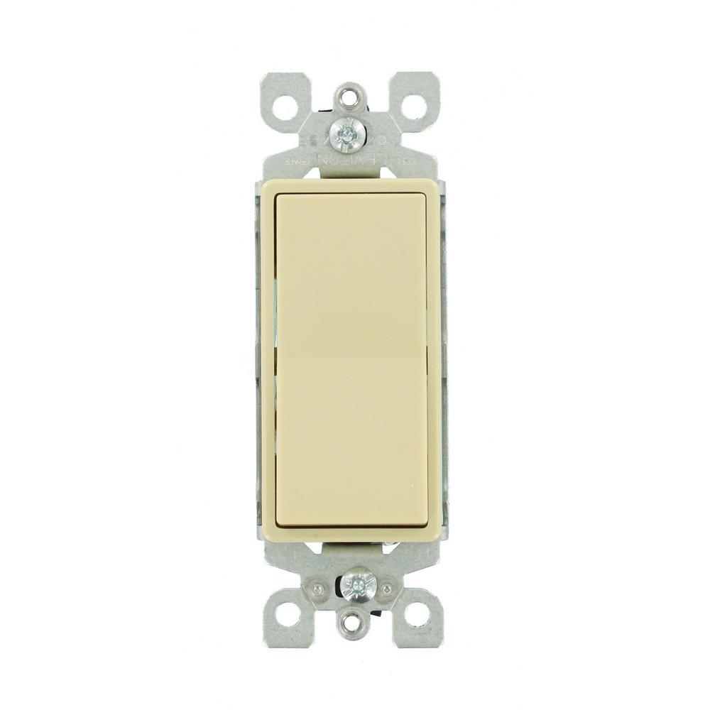 Leviton 15-Amp 120/277-Volt Decora 1-Pole Residential Grade Ac Quiet ...