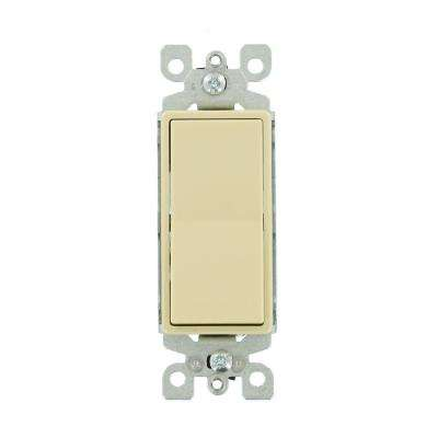 15 Amp 120/277-Volt Decora 1-Pole Residential Grade AC Quiet Illuminated Rocker Switch, Ivory