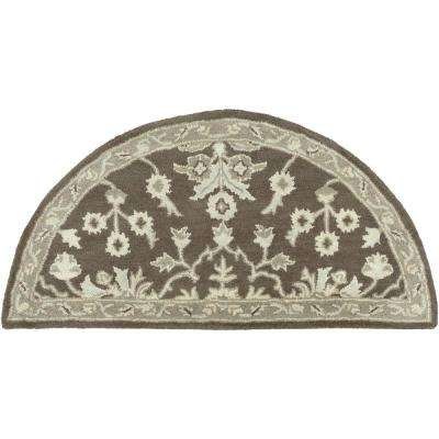 Zari Chocolate 2 ft. x 4 ft. Hearth Indoor Area Rug
