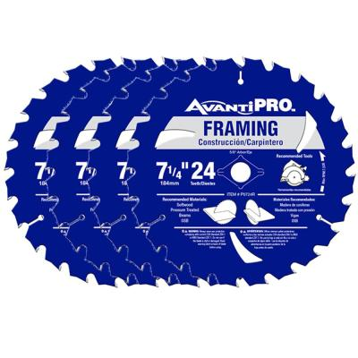 7-1/4 in. x 24-Teeth Framing Saw Blade (4-Pack)
