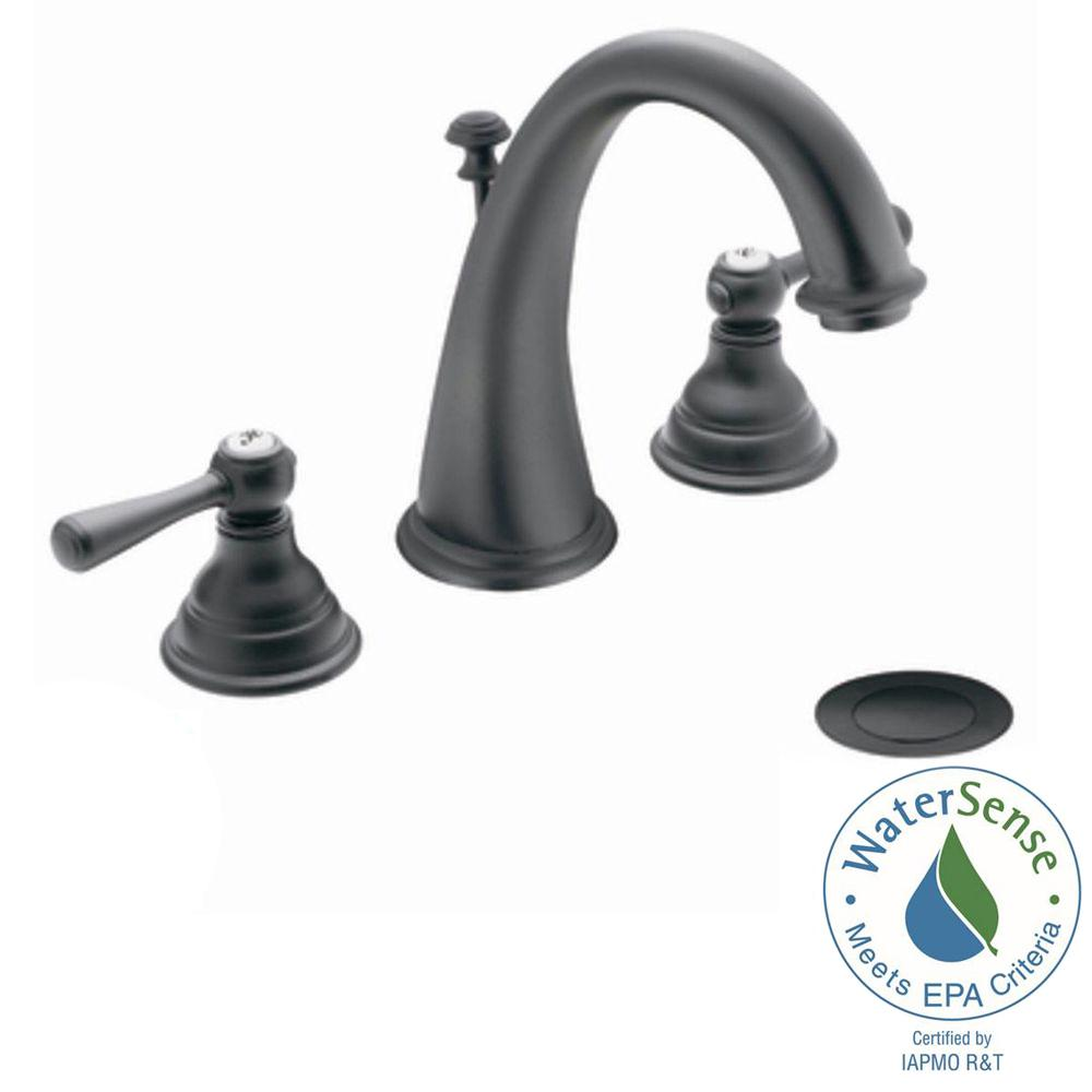 MOEN Kingsley 8 in. Widespread 2-Handle High-Arc Bathroom Faucet ...