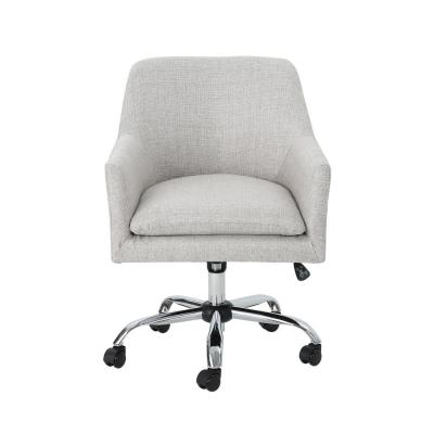 Johnson Mid-Century Modern Beige Fabric Adjustable Home Office Chair with Wheels