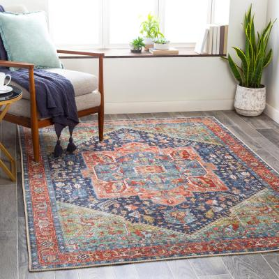 Candy Green 7 ft. 10 in. x 10 ft. 2 in. Medallion Area Rug