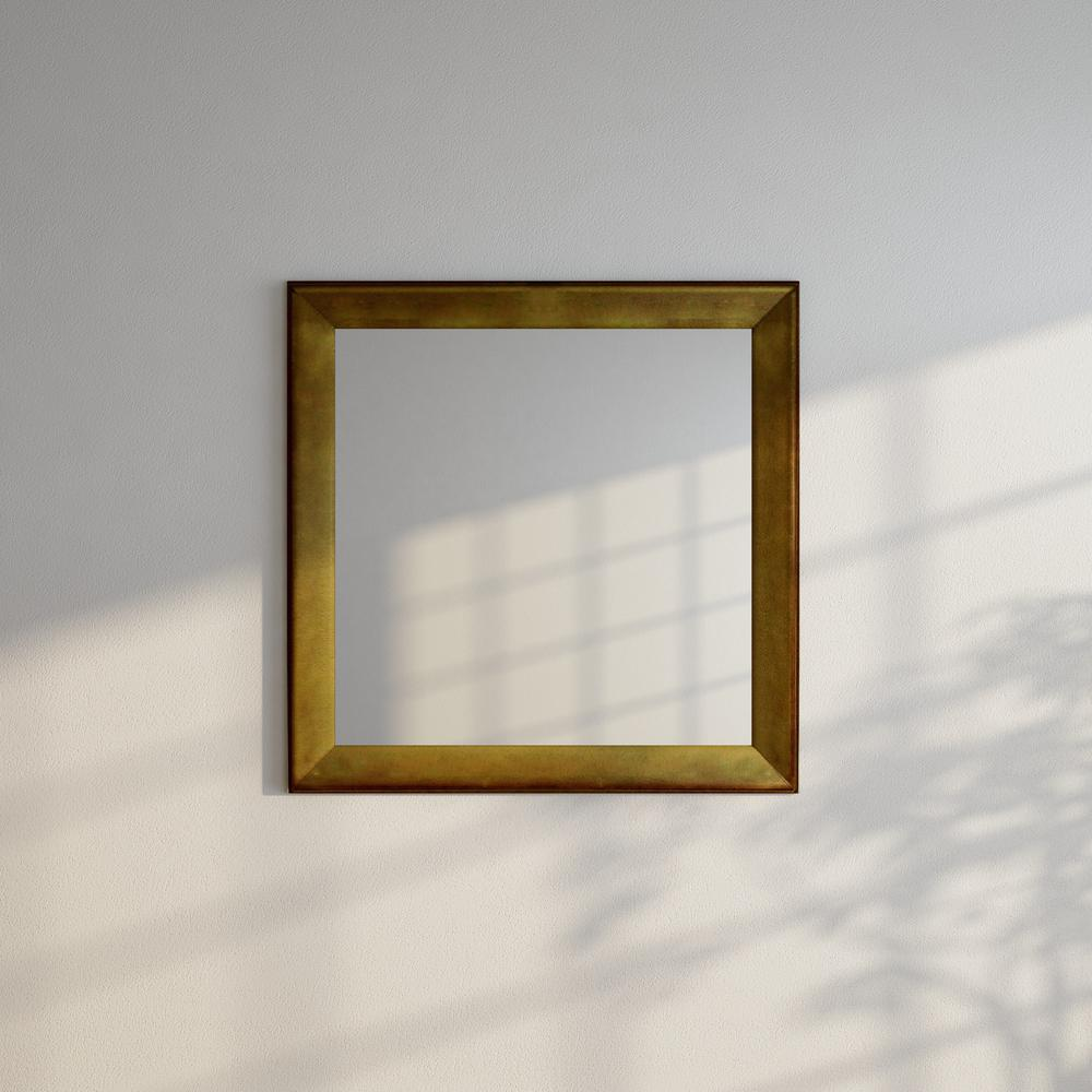 square vanity mirror with lights. Vintage Gold Square Vanity Wall Mirror 37 5 In  X S057L