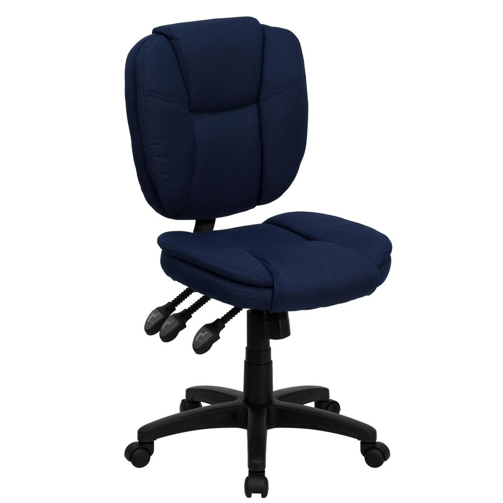 blue task chair office task chairs. Mid-Back Navy Blue Fabric Multi-Functional Ergonomic Swivel Task Chair Office Chairs