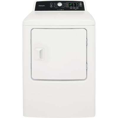 6.7 cu. ft. White Free Standing Gas Dryer