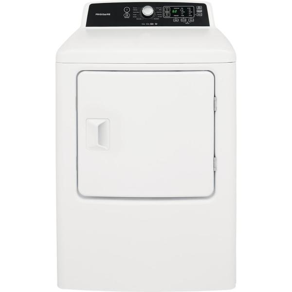 Frigidaire 6 7 Cu Ft White Free Standing Gas Dryer Ffrg4120sw The Home Depot