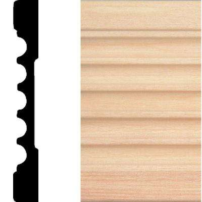769 - 1/2 in. x 4 in. x 7 ft. Basswood Fluted Casing Moulding
