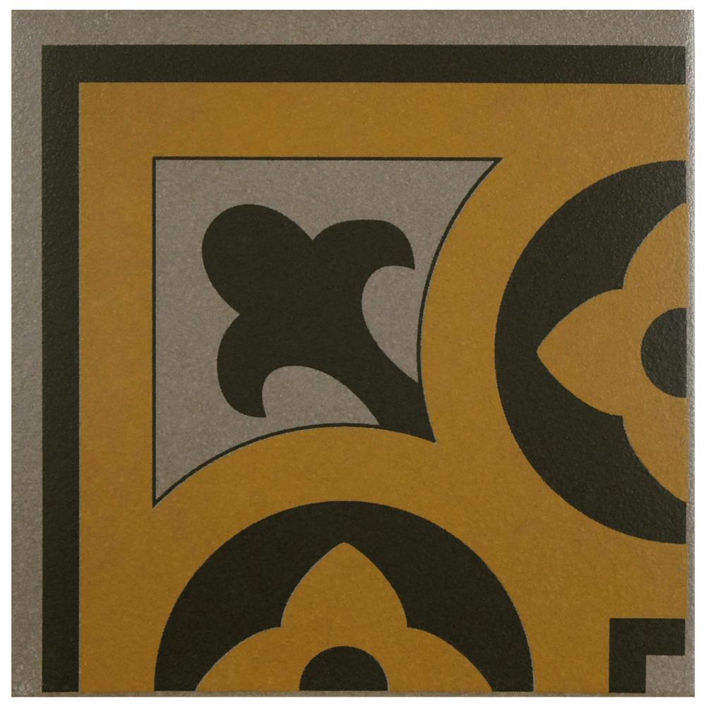 Merola Tile Cementi Quatro Cla Esquina 7 in. x 7 in. Porcelain Floor and Wall Corner Tile