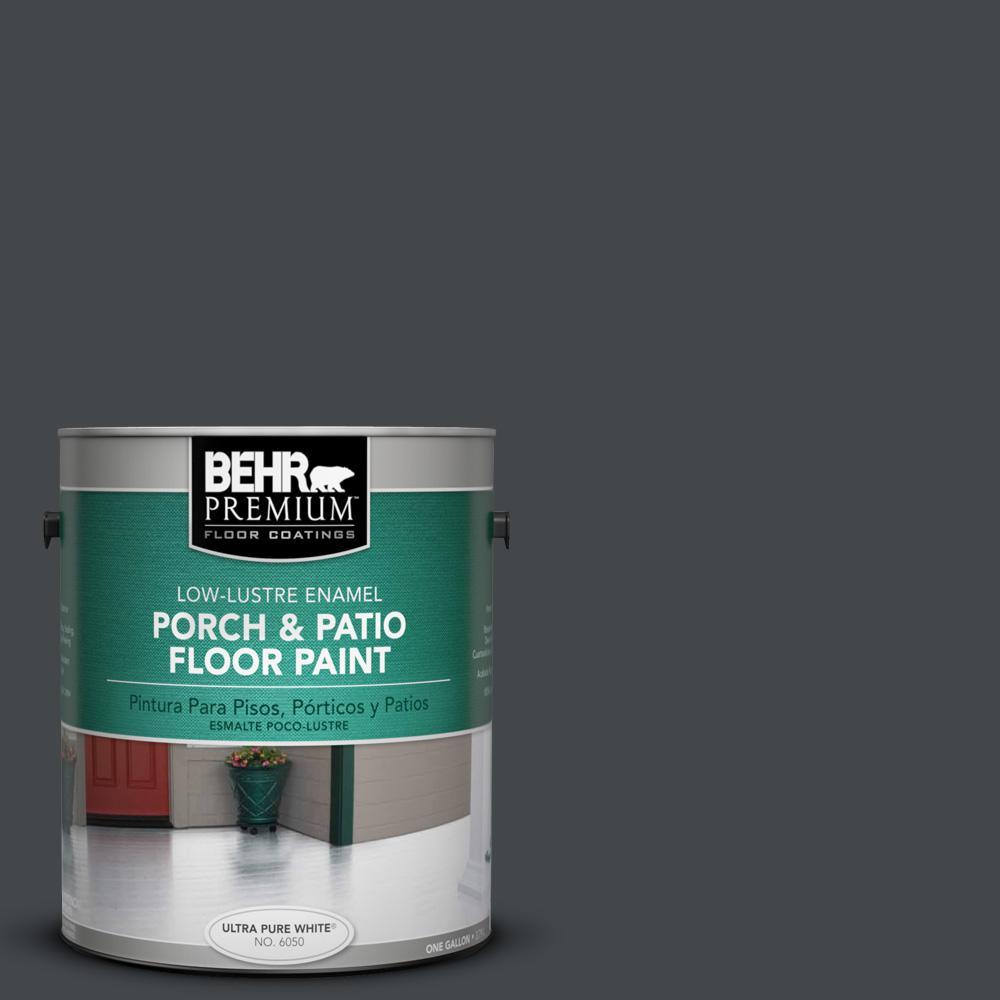 1 gal. #PPU24-23 Little Black Dress Low-Lustre Porch and Patio Floor Paint