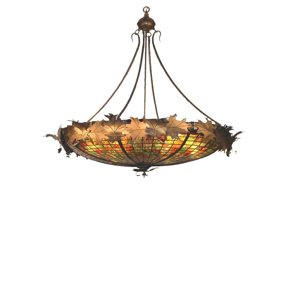 Illumine 6 Light Greenbriar Oak Inverted Pendant