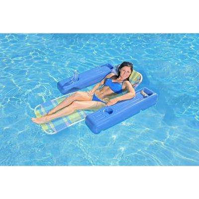 Caribbean Plaid Swimming Pool Float Lounge