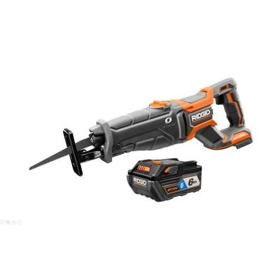 RIDGID 18-Volt OCTANE Cordless Brushless Reciprocating Saw with OCTANE Lithium-Ion 6 Ah Battery (Charger Not Included)
