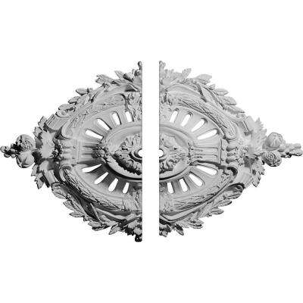 35-7/8 in. W x 22-1/2 in. H x 4-3/8 in. P Antonio Ceiling Medallion (2-Piece)
