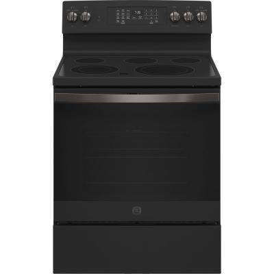 30 in. 5.0 cu. ft. Gas Range with Self-Cleaning Oven in Black Slate