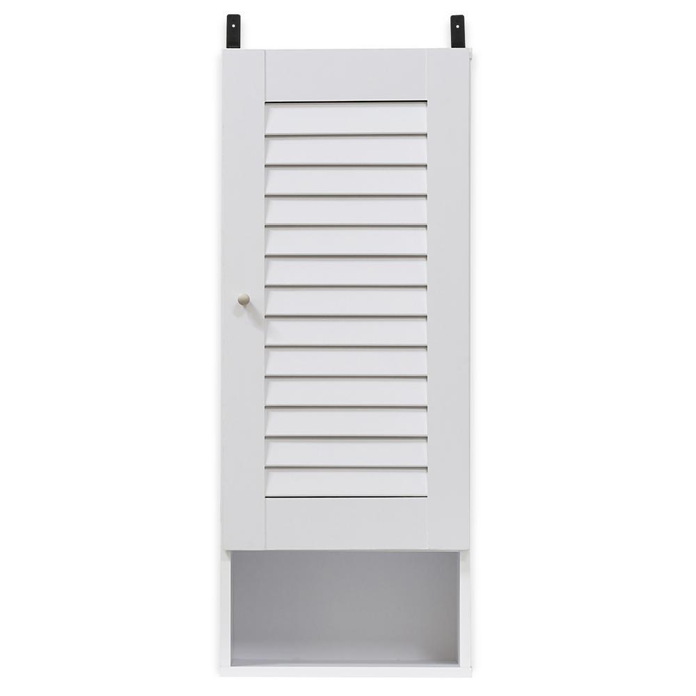 Indo White Slim Wall Cabinet