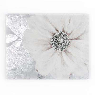 "31 in. x 24 in. ""Gray Bloom"" by Graham and Brown Printed Canvas Wall Art"