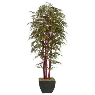 8 ft. Tall High End Silk Realistic Bamboo Tree with Decorative Planter