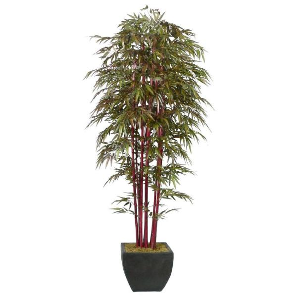 Vintage Home 8 Ft Tall High End Silk Realistic Bamboo Tree With Decorative Planter Vha101719 Kd The Home Depot