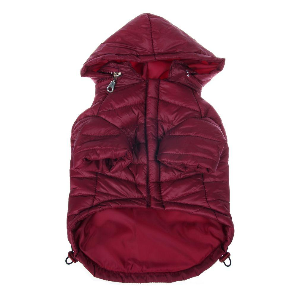Medium Burgundy Red Lightweight Adjustable Sporty Avalanche Dog Coat with