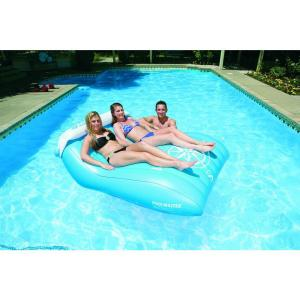 Poolmaster nautical double mattress 83389 the home depot for Pool floats design raises questions
