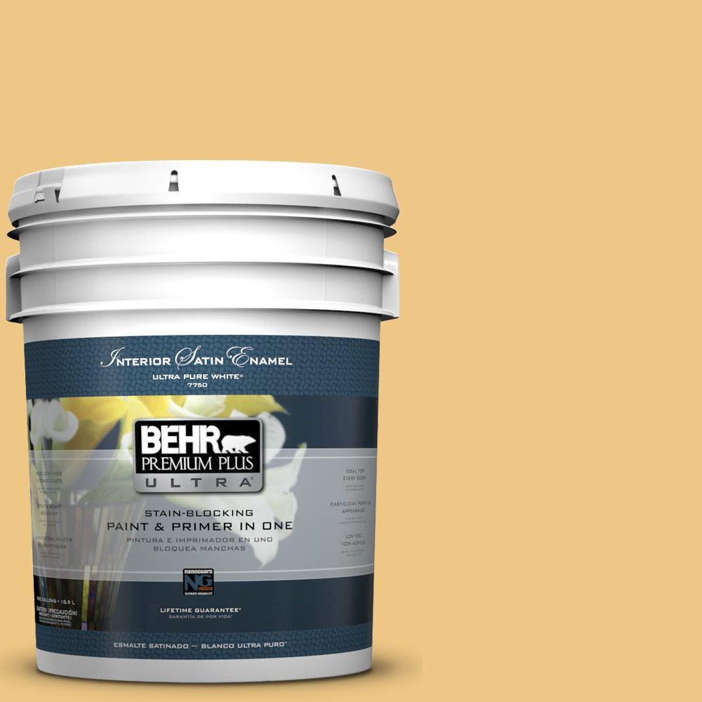 BEHR Premium Plus Ultra 5-gal. #M290-4 Garbanzo Paste Satin Enamel Interior Paint