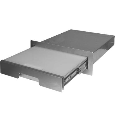 15-3/8 in. Stainless Steel Pull Out Cutting Board for Outdoor Grill Island