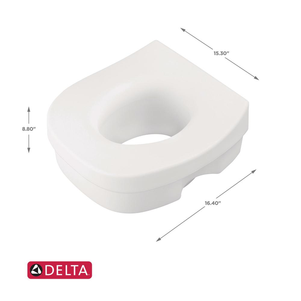 Superb Delta Elevated Toilet Seat In White Squirreltailoven Fun Painted Chair Ideas Images Squirreltailovenorg