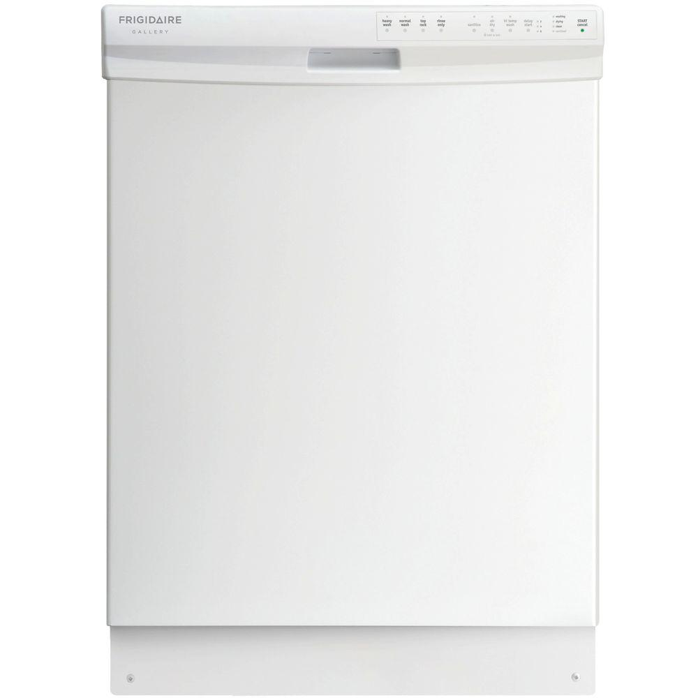 Frigidaire Gallery Built-In Front Control Dishwasher in White
