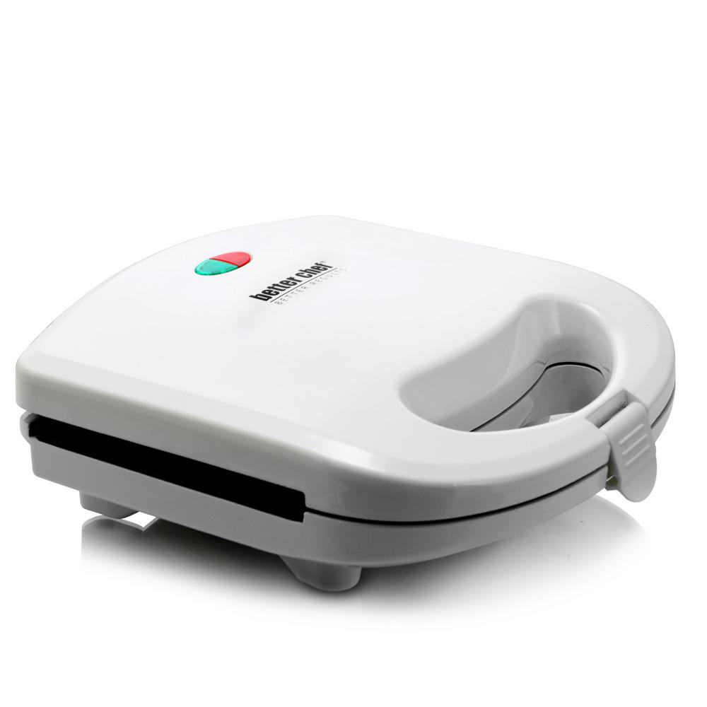 Non-Stick White Sandwich Grill A great addition to any kitchen. The Better Chef Panini Press sandwich maker and grill is sleek and stylish and certain to upgrade your kitchen's existing look. Bring this sandwich grill home today. Color: White.