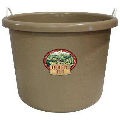 17.5 Gal. Bucket Utility Tub For Maintenance Cleaning Growing and More Sand