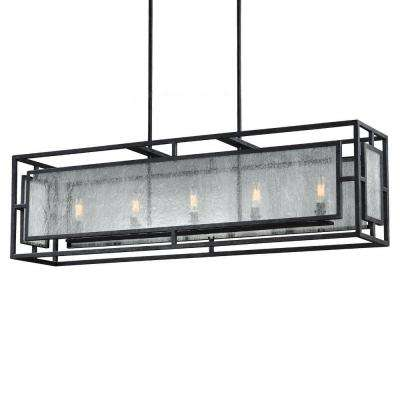 Prairielands 5-Light Dark Weathered Zinc Single Tier Chandelier Shade