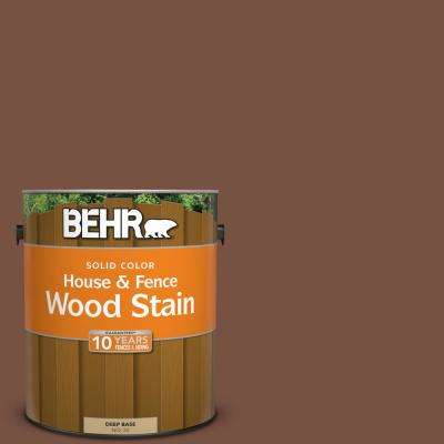 1 gal. #S190-7 Toasted Pecan Solid Color House and Fence Exterior Wood Stain