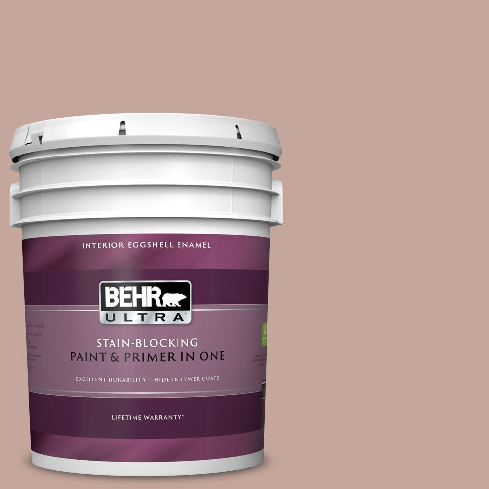 Behr Ultra 5 Gal Icc 53 Cozy Blanket Eggshell Enamel Interior Paint And Primer In One 275405 The Home Depot