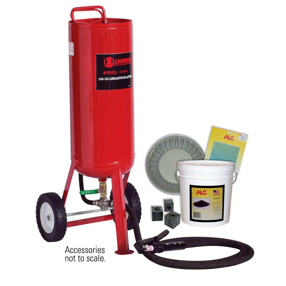 100 lbs. Portable Abrasive Pressure Blaster with Starter Kit