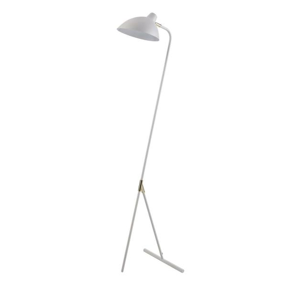 Delicata Monopod Floor Lamps - White/Gold