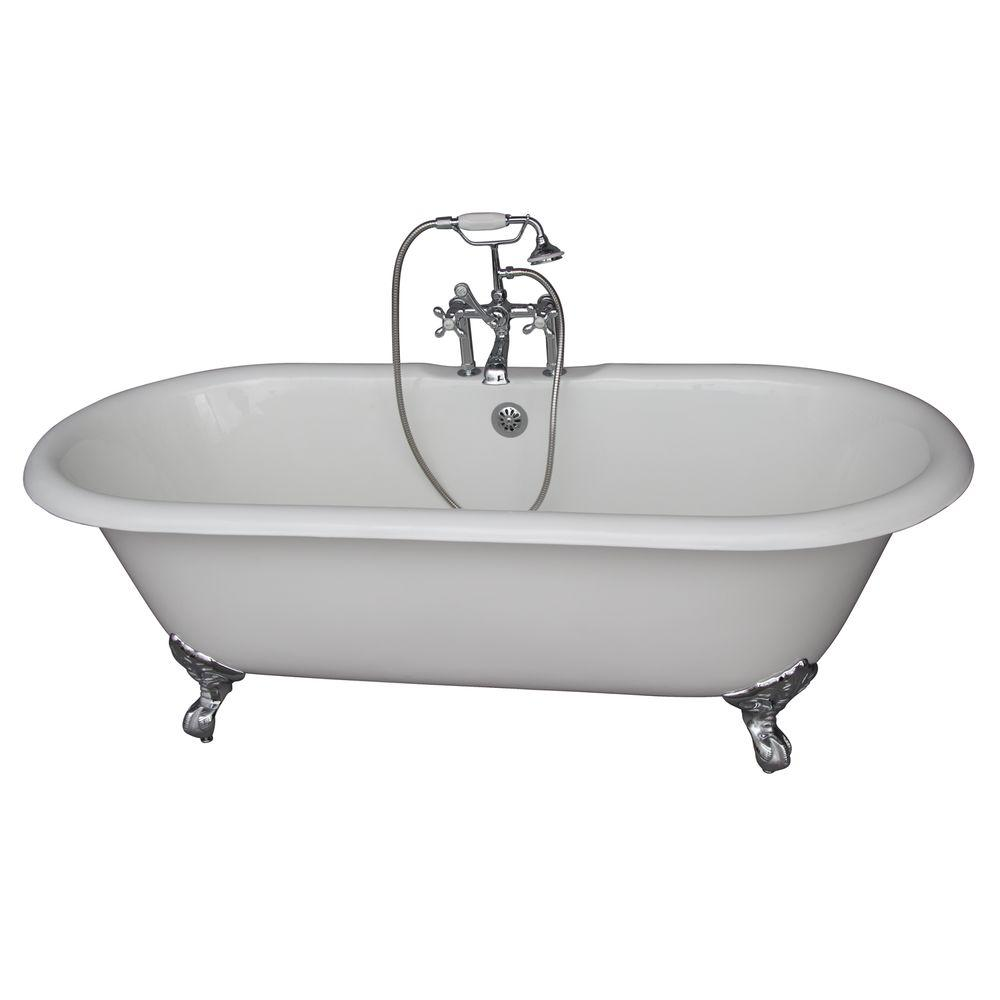 Barclay products 5 6 ft cast iron imperial feet double for 6 ft tub