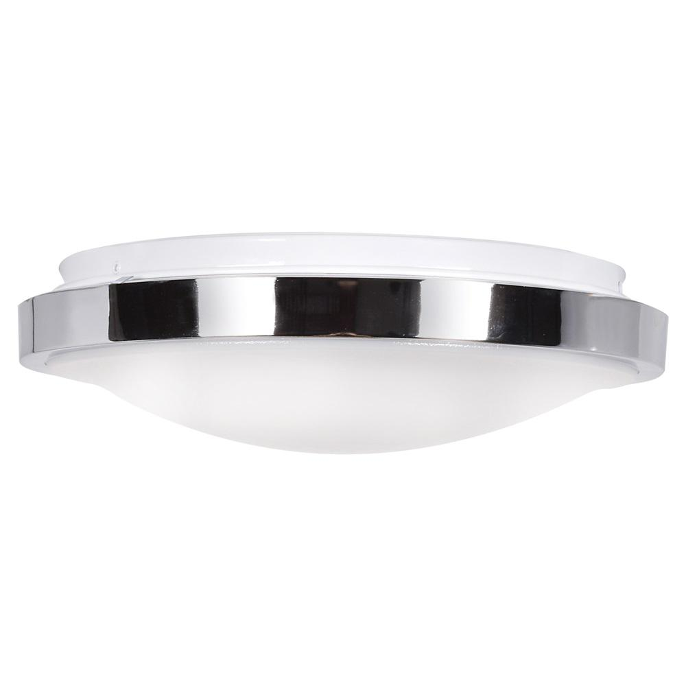 Access Lighting Lucid 11 75 In Dia Watt Equivalent Chrome Integrated Led Flushmount With Acrylic Lens