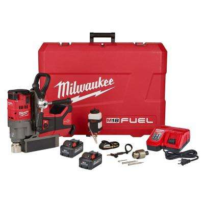 M18 FUEL 18-Volt Lithium-Ion Brushless Cordless 1-1/2 in. Magnetic Drill High Demand Kit W/(2) 8.0Ah Batterie