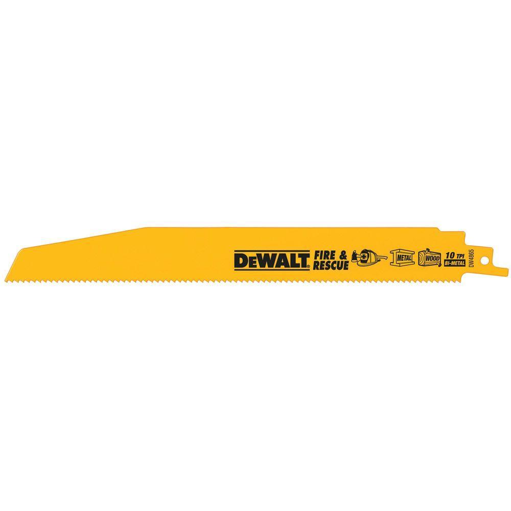 DEWALT 9 in.10 TPI Demolition Bi-Metal Reciprocating Saw Blade (5-Pack)