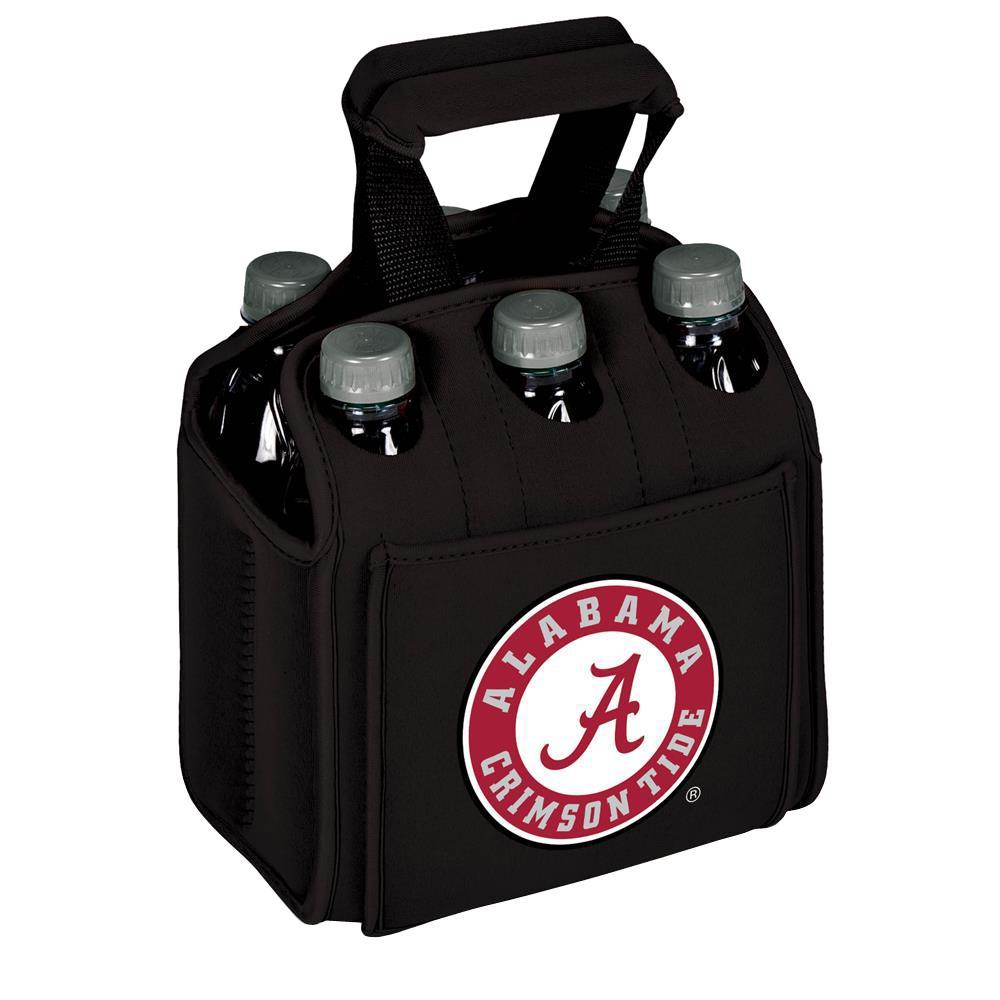 University of Alabama Crimson Tide 6-Bottles Black Beverage Carrier
