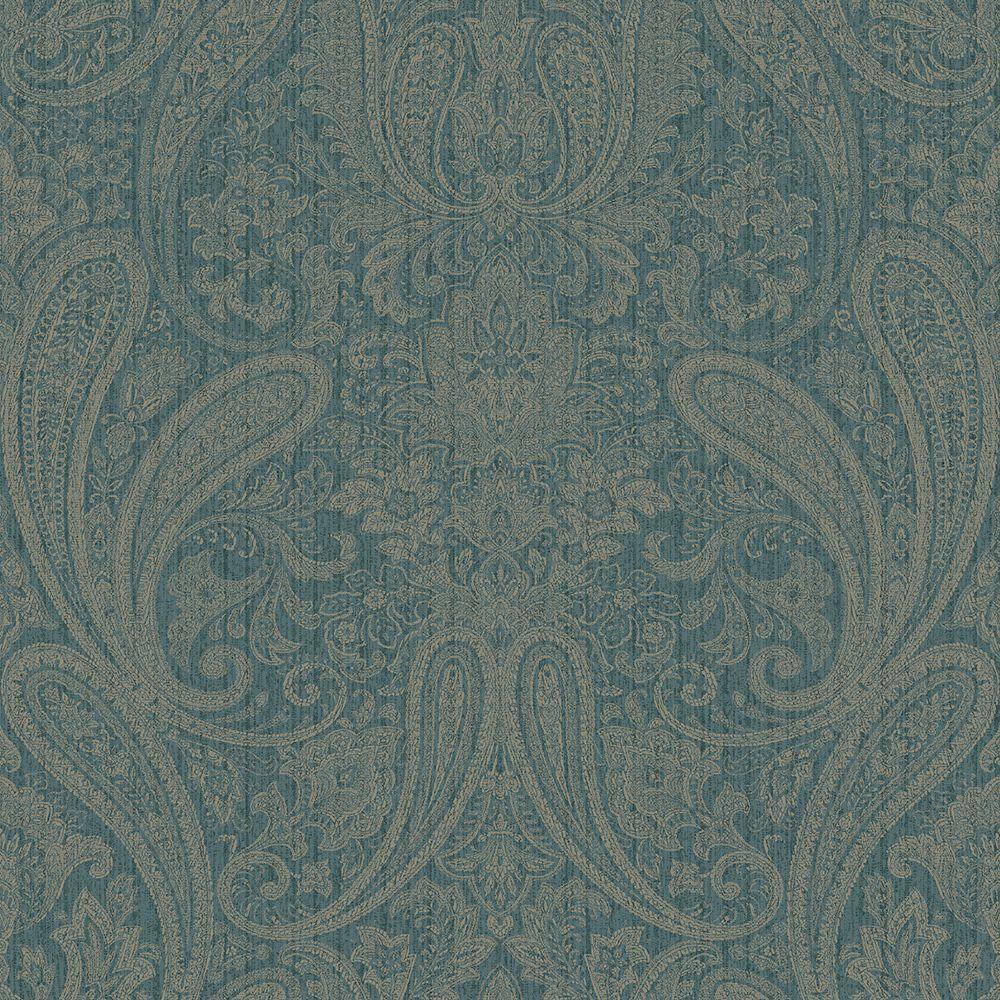 Ludlow Blue Paisley Wallpaper