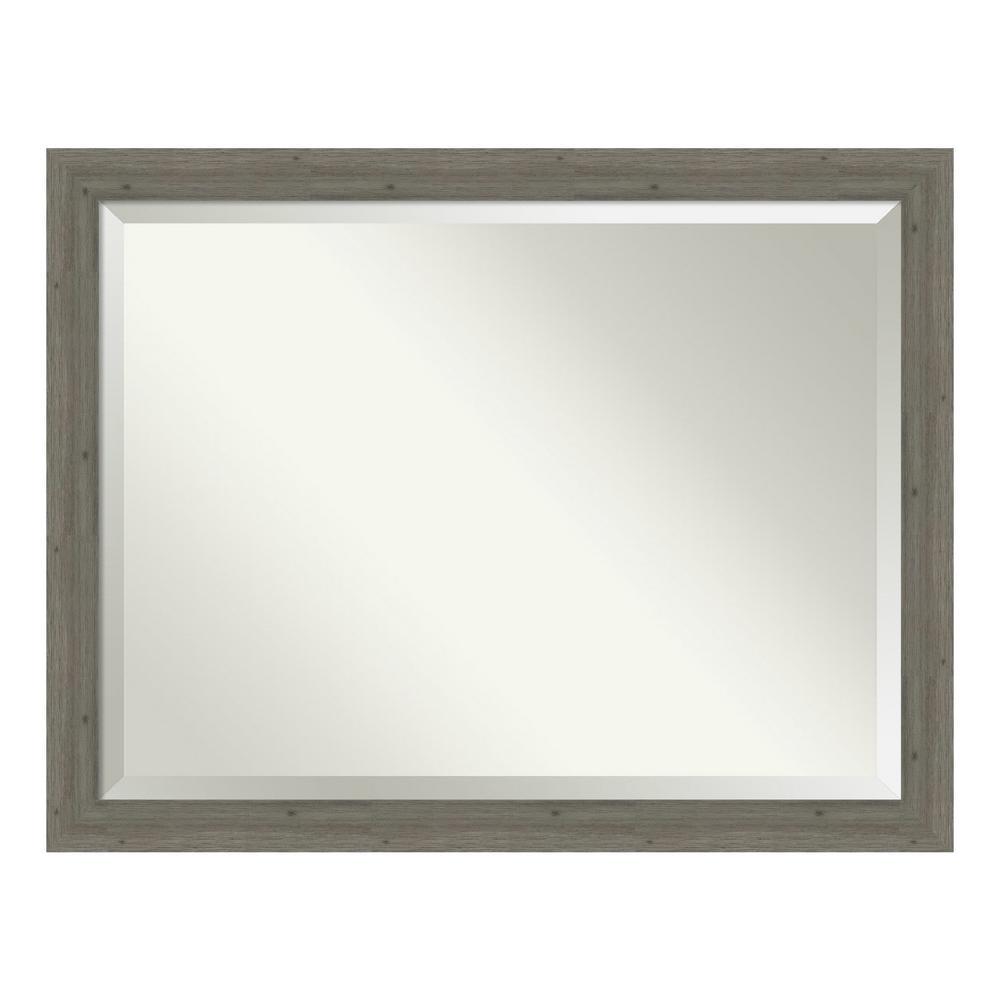Amanti Art Fencepost Narrow Grey Bathroom Vanity Mirror DSW4094366