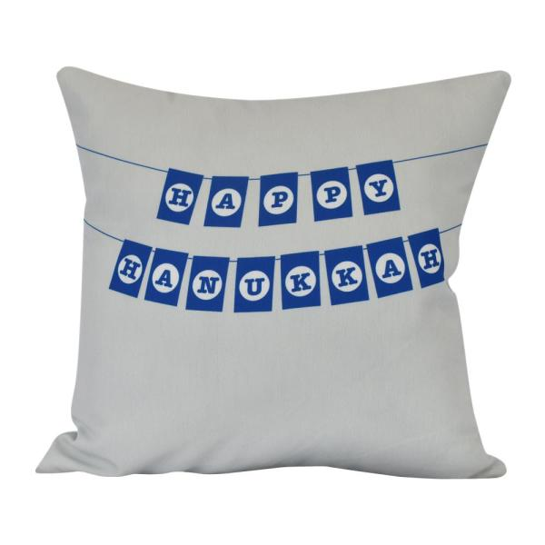 20 in. Banner Day Indoor Decorative Pillow PHW981GY1-20