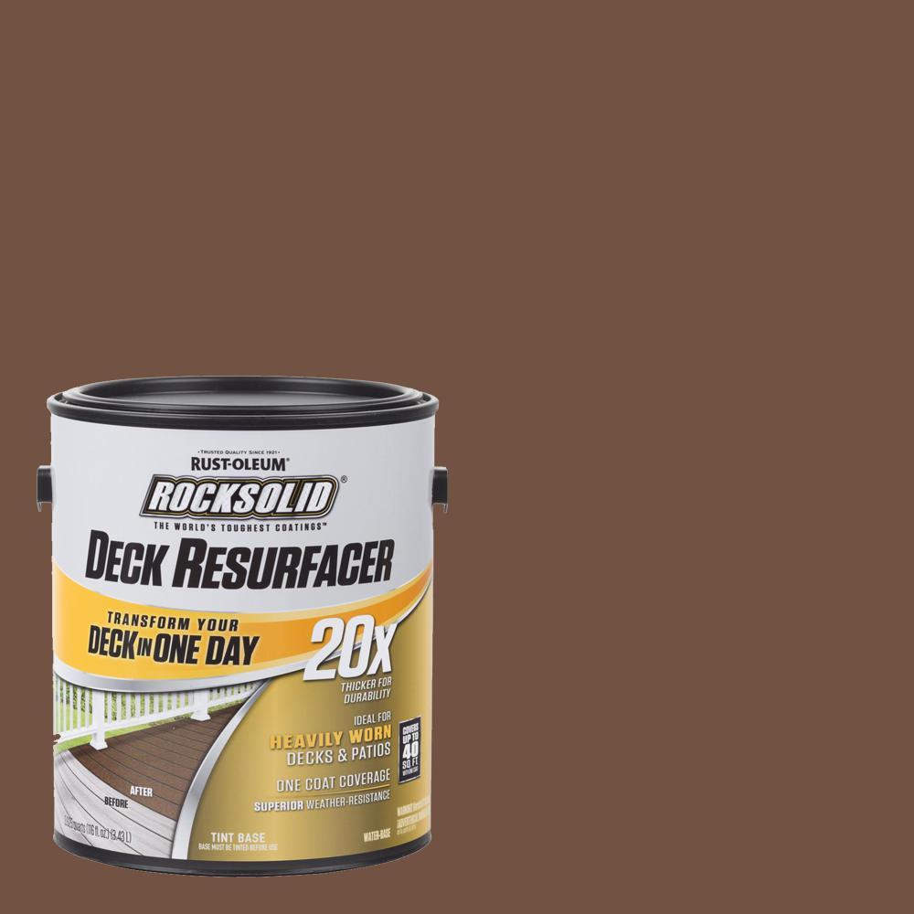 Rust-Oleum RockSolid 1 Gal. Russet Exterior 20X Deck Resurfacer