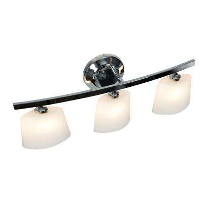 Sydney 3 Light Chrome Vanity Light with Opal Glass Shade
