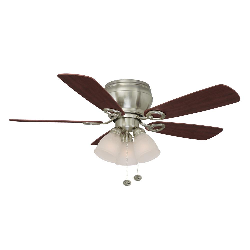 Hampton bay whitlock 44 in led indoor brushed nickel ceiling fan hampton bay whitlock 44 in led indoor brushed nickel ceiling fan with light kit 51644 the home depot aloadofball Images