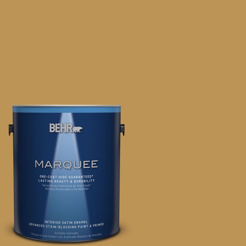 1 gal. #T12-5 Lone Star Satin Enamel Interior Paint