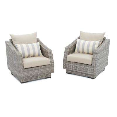 Cannes Patio Club Chair with Slate Grey Cushions (2-Pack)